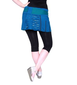 Beautiful Summer Wrap Skirt with Pocket Miniskirt Hippie Goa Skirt – Bild 20