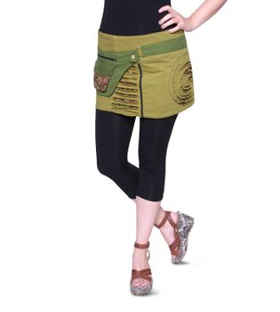 Beautiful Summer Wrap Skirt with Pocket Miniskirt Hippie Goa Skirt – Bild 9