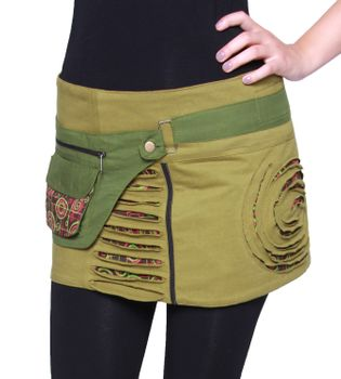 Beautiful Summer Wrap Skirt with Pocket Miniskirt Hippie Goa Skirt – Bild 10