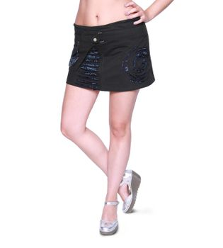 Beautiful Summer Wrap Skirt with Pocket Miniskirt Hippie Goa Skirt – Bild 4