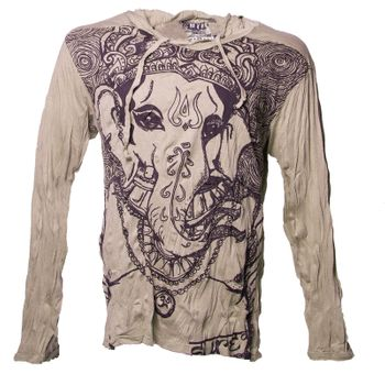 Kunst & Magie Sure Hoody Elephant Ganesha in hippie look – Bild 14