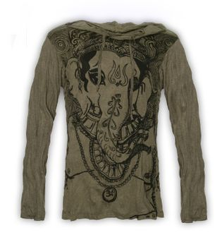Kunst & Magie Sure Hoody Elephant Ganesha in hippie look – Bild 3