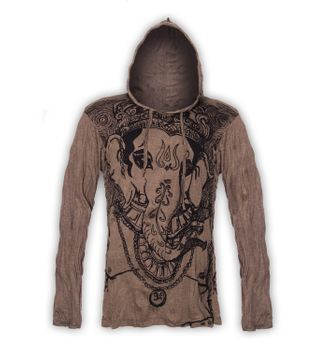 Kunst & Magie Sure Hoody Elephant Ganesha in hippie look – Bild 5