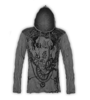Kunst & Magie Sure Hoody Elephant Ganesha in hippie look – Bild 6