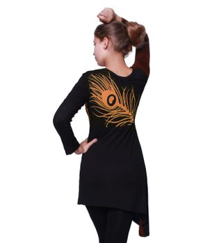 "Kunst und Magie Boho Hippie Patch shell ""Peacock"" Tunic Mini Dress Longshirt – Bild 4"
