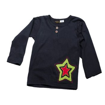 Kids Longsleeve Shirt Star – Bild 1