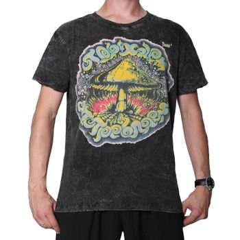 Sure 70er Retro T-Shirt Magic Mushroom im Batik Look – Bild 1