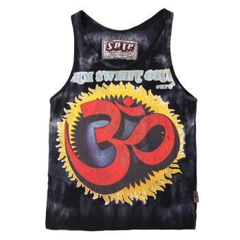 Sure Men's 70s Retro Sleeveless T-Shirt OM in the Batiklook Tank Top – Bild 1