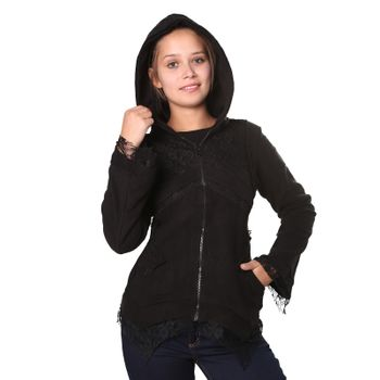 Women's Hippie Fleece Jacket with Hood – Bild 5