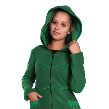 Soft fleece jacket with detachable zip hood – Bild 12