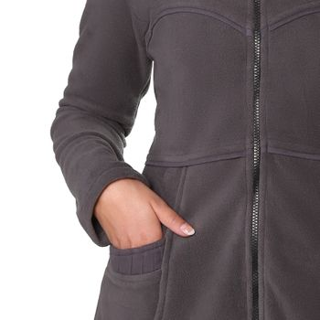 Soft fleece jacket with detachable zip hood – Bild 5