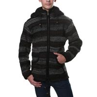 Kunst und Magie cardigan with fleece lining for men 001