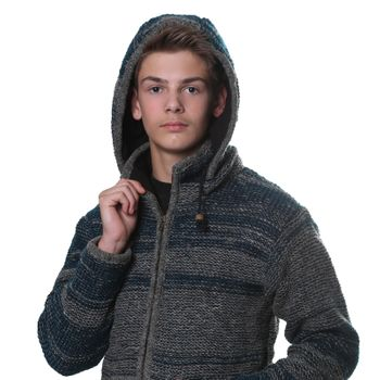 Kunst und Magie Cardigan with fleece lining and detachable hood for Men – Bild 2