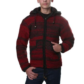 Kunst und Magie Cardigan with fleece lining and detachable hood for Men – Bild 4