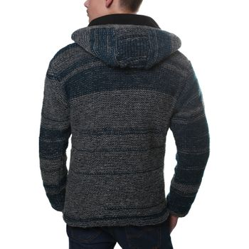 Kunst und Magie Cardigan with fleece lining and detachable hood for Men – Bild 3