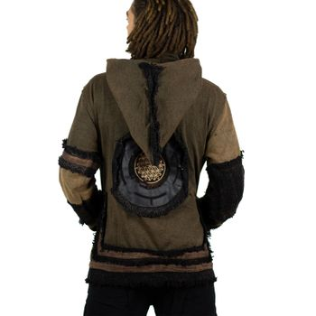 "Extravagant Fleece Jacket ""Buddha"" in a Unique Design Goa Psy Hippie – Bild 19"