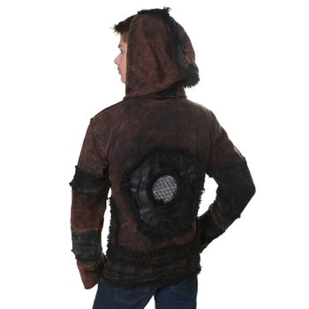 "Extravagant Fleece Jacket ""Buddha"" in a Unique Design Goa Psy Hippie – Bild 12"