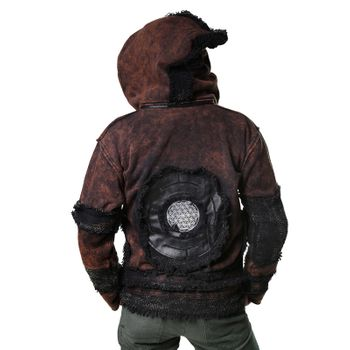 "Extravagant Fleece Jacket ""Buddha"" in a Unique Design Goa Psy Hippie – Bild 11"