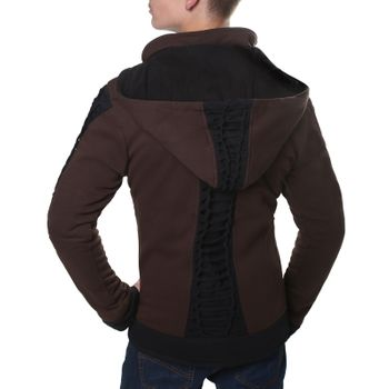 Kunst und Magie Men Goajacke made of cotton with fleece lining, hood and lacing Medieval – Bild 8