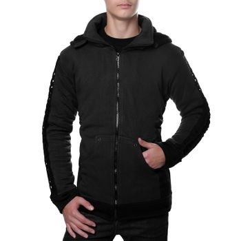 Kunst und Magie Men Goajacke made of cotton with fleece lining, hood and lacing Medieval – Bild 3