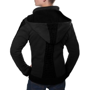 Kunst und Magie Men Goajacke made of cotton with fleece lining, hood and lacing Medieval – Bild 4