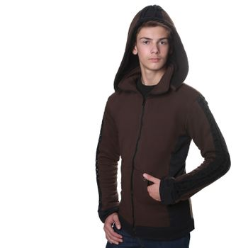 Kunst und Magie Men Goajacke made of cotton with fleece lining, hood and lacing Medieval – Bild 6