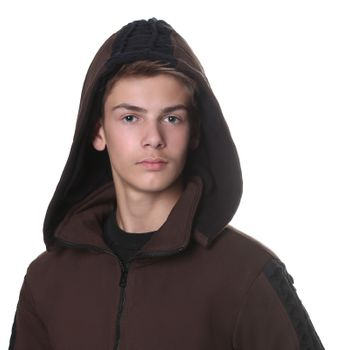 Kunst und Magie Men Goajacke made of cotton with fleece lining, hood and lacing Medieval – Bild 9