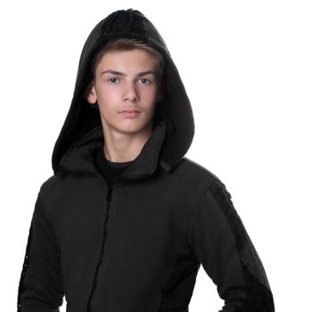 Kunst und Magie Men Goajacke made of cotton with fleece lining, hood and lacing Medieval – Bild 2