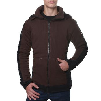 Kunst und Magie Men Goajacke made of cotton with fleece lining, hood and lacing Medieval – Bild 7