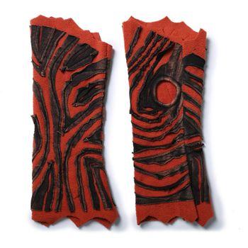 Kunst und Magie Cutwork Fleece Pulswärmer Armstulpen Stulpen Goa Hippie Psy Handwärmer – Bild 6