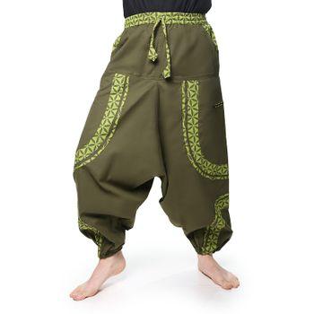 OM Unisex Psy Baggy Pants Hippie Pants Goa Cotton Dance Pants – Bild 1