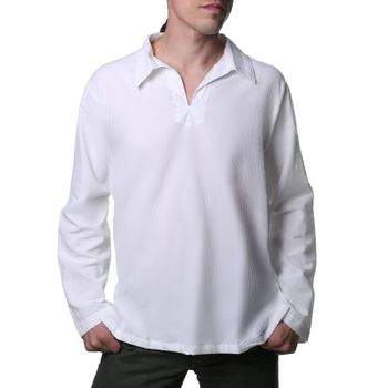 Kunst und Magie Alternative cotton shirt Fisherman shirt Kurtha Shirt Middle Age – Bild 3