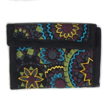 Beautiful Shoulder Bag with Embroidered Mandalas Goa Psy – Bild 1