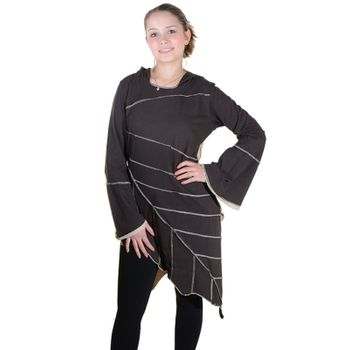 Dress Magical Leaf-shaped Tunic Longshirt – Bild 16