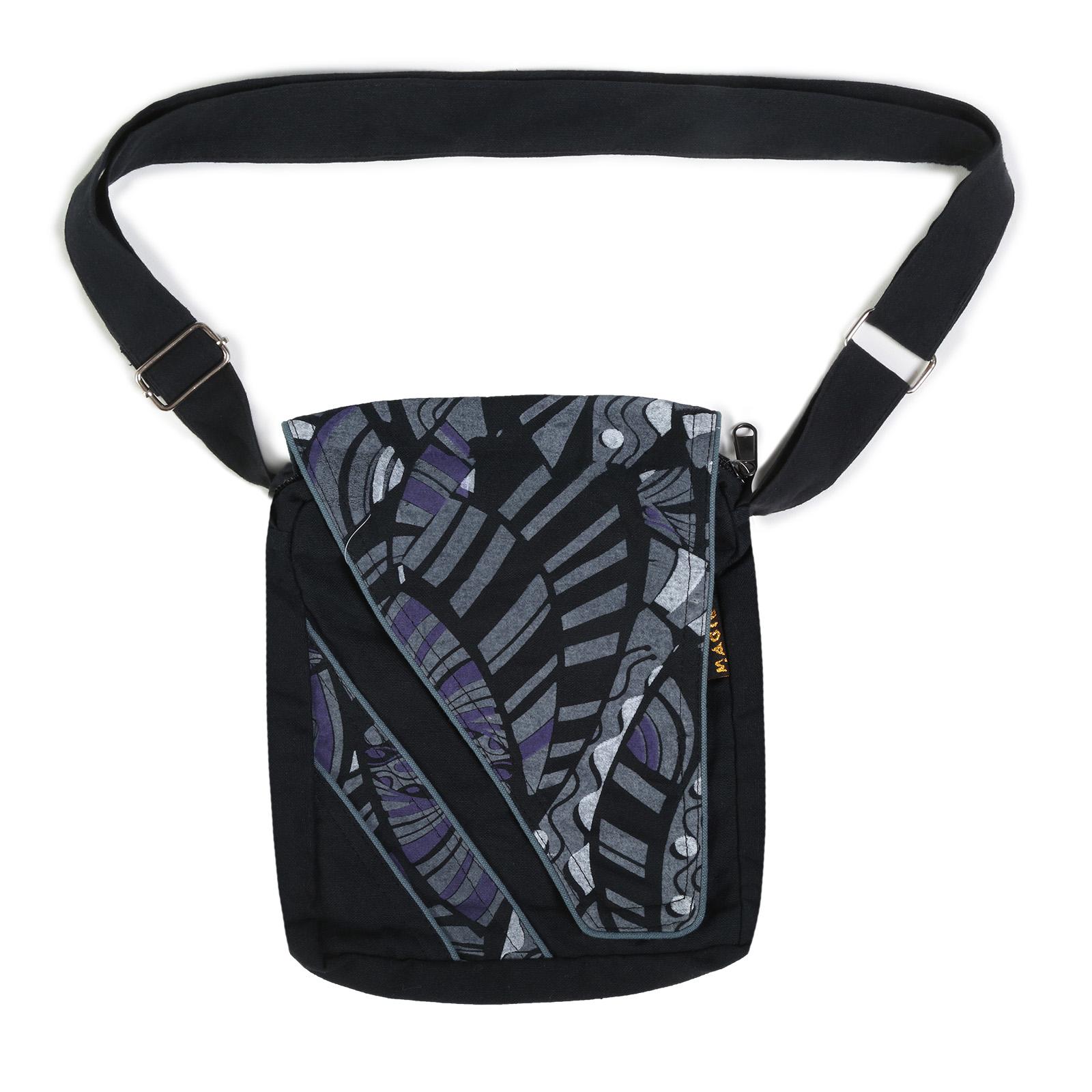 Alternative Damenhandtasche / Schultertasche Goa Psy 70er Retro Design
