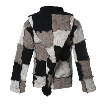 Kunst und Magie Patchwork cardigan with detachable Elfin hood – Bild 2