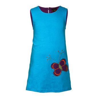 Kunst und Magie Colory tunic summery children's dress with butterfly embroidery – Bild 3