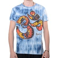"Kunst und Magie Sure Men Colorful 70s Retro Hippie T-Shirt ""OM""in batik 001"