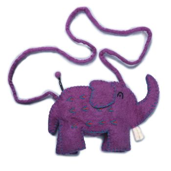 Kunst und Magie child bag Elephant Shoulder Bag made of felt (wool) – Bild 3