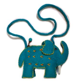 Kunst und Magie child bag Elephant Shoulder Bag made of felt (wool) – Bild 4