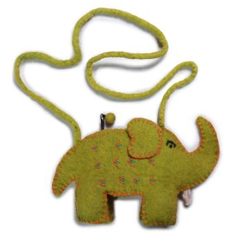Kunst und Magie child bag Elephant Shoulder Bag made of felt (wool) – Bild 2