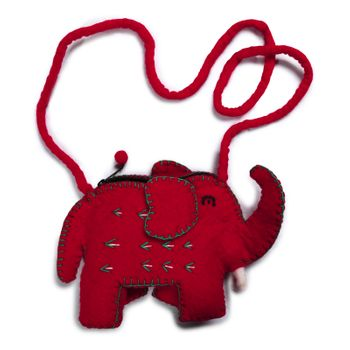 Kunst und Magie child bag Elephant Shoulder Bag made of felt (wool)