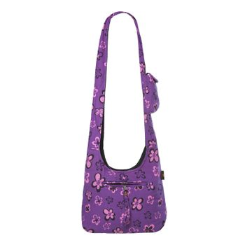 Kunst und Magie Shoulder Cloak Bag with Flower Design – Bild 12