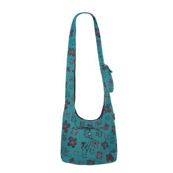 Kunst und Magie Shoulder Cloak Bag with Flower Design – Bild 11
