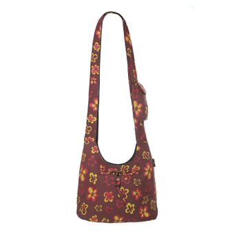 Kunst und Magie Shoulder Cloak Bag with Flower Design – Bild 9