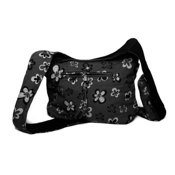 Kunst und Magie Shoulder Cloak Bag with Flower Design – Bild 1