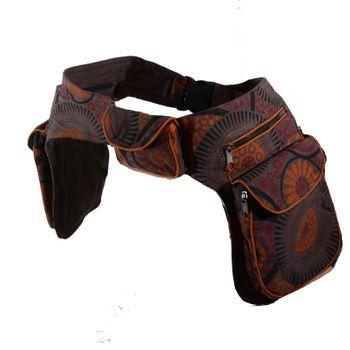 Kunst und Magie Double fanny pack Sidebag belt pouch pocket Festival Hippie Goa – Bild 12