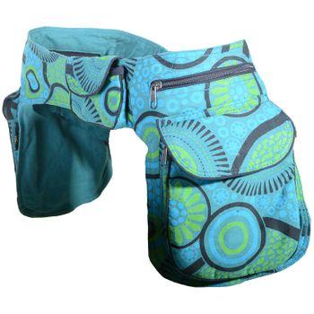 Kunst und Magie Double fanny pack Sidebag belt pouch pocket Festival Hippie Goa – Bild 25