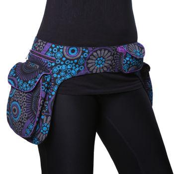 Kunst und Magie Double fanny pack Sidebag belt pouch pocket Festival Hippie Goa – Bild 3