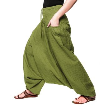 Kunst und Magie Damen Gesteppte Haremshose mit gesmoktem Bund - Goa Wellnesshose – Bild 7